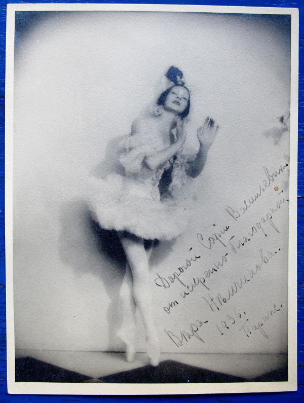 Vera Nemtchinova des Ballets Diaghilev