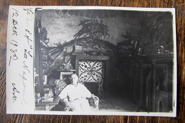 Dimitri Stelletsky à la Napoule photo carte envoyée à Georges Morozov