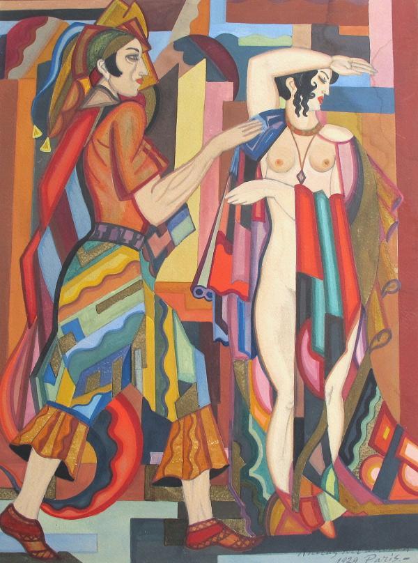Gouache de Nicolas Artamonoff